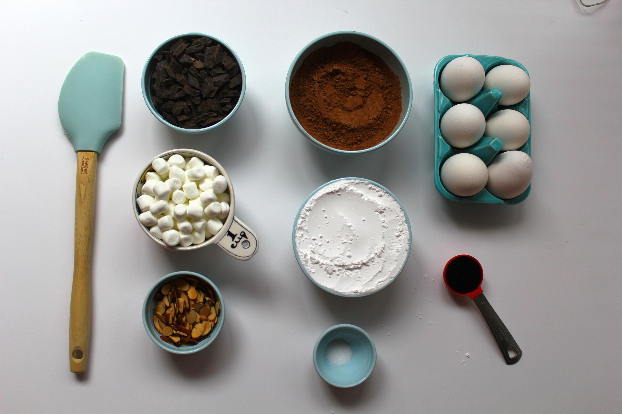 flourless rocky road cookies ingredients