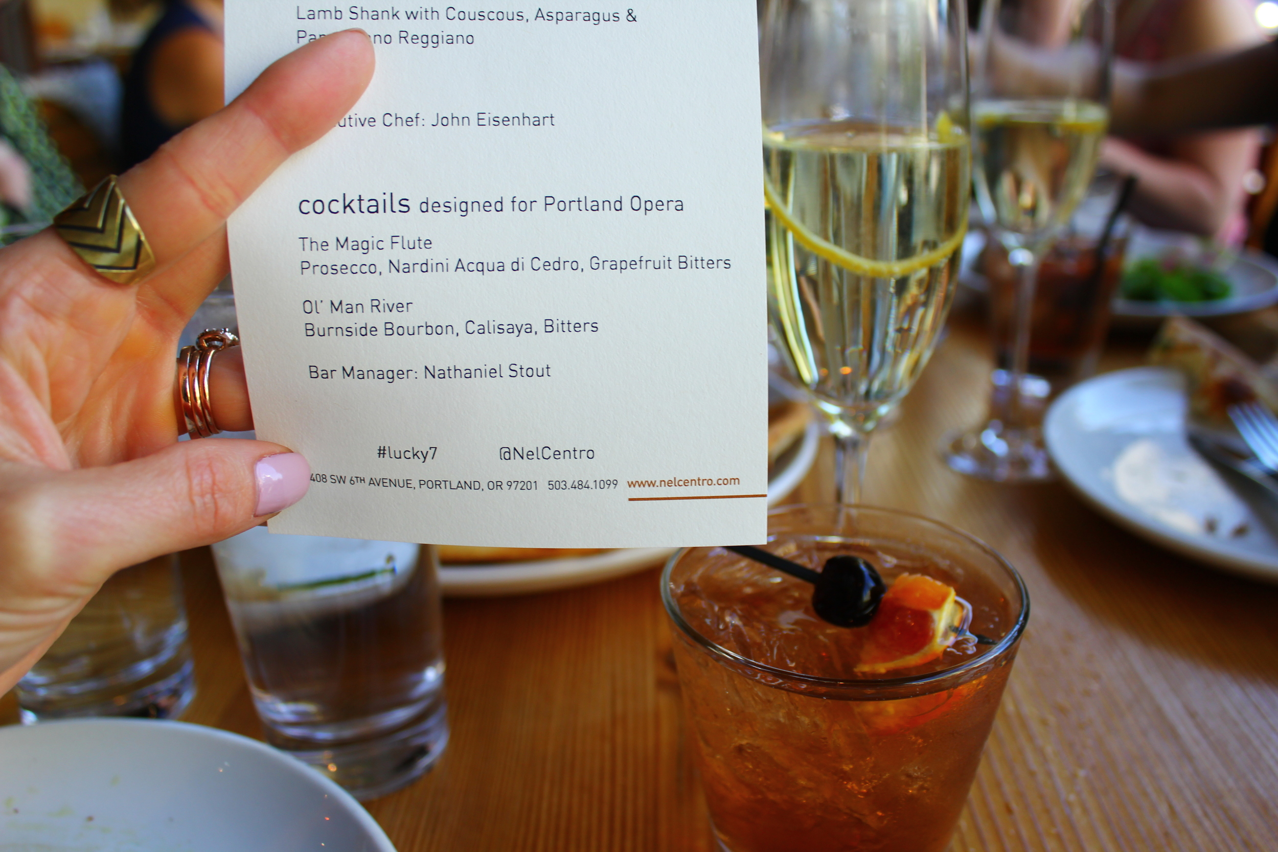 cocktails designed for portland opera