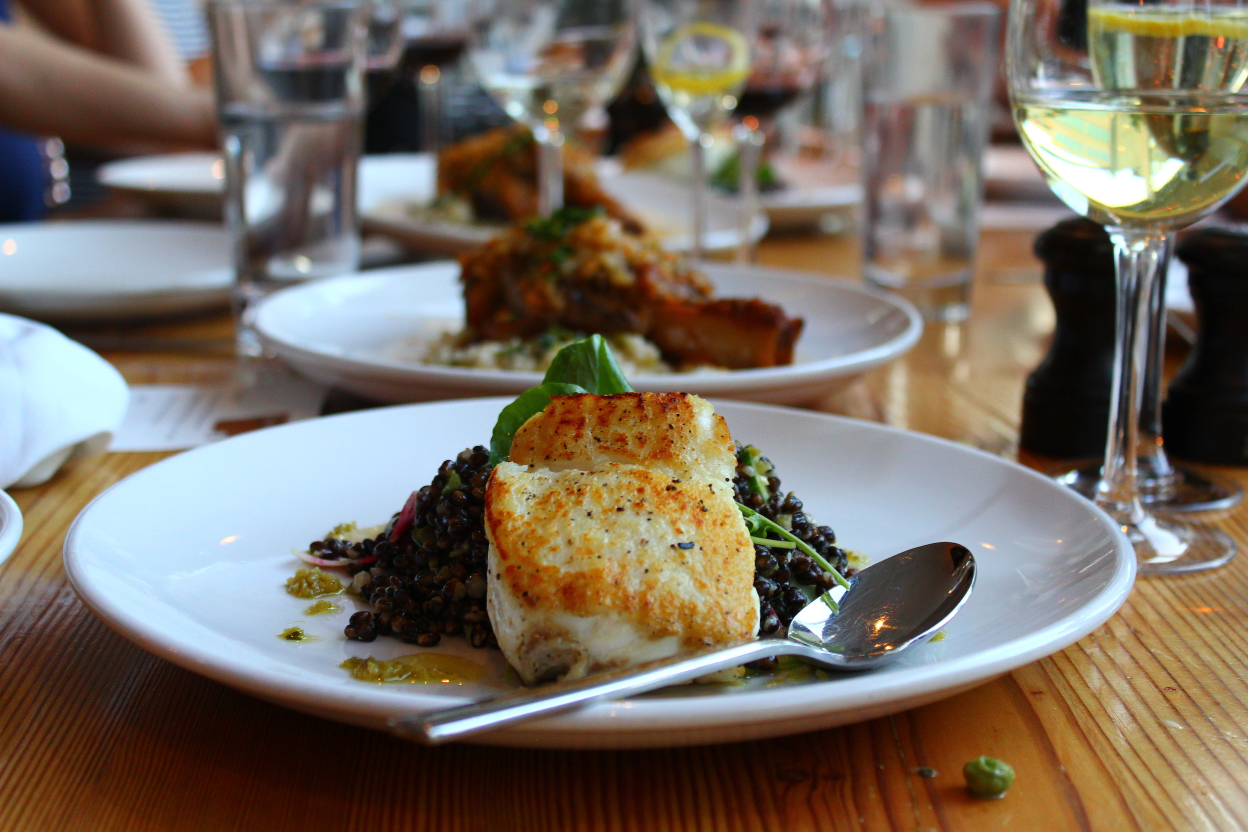 halibut entree