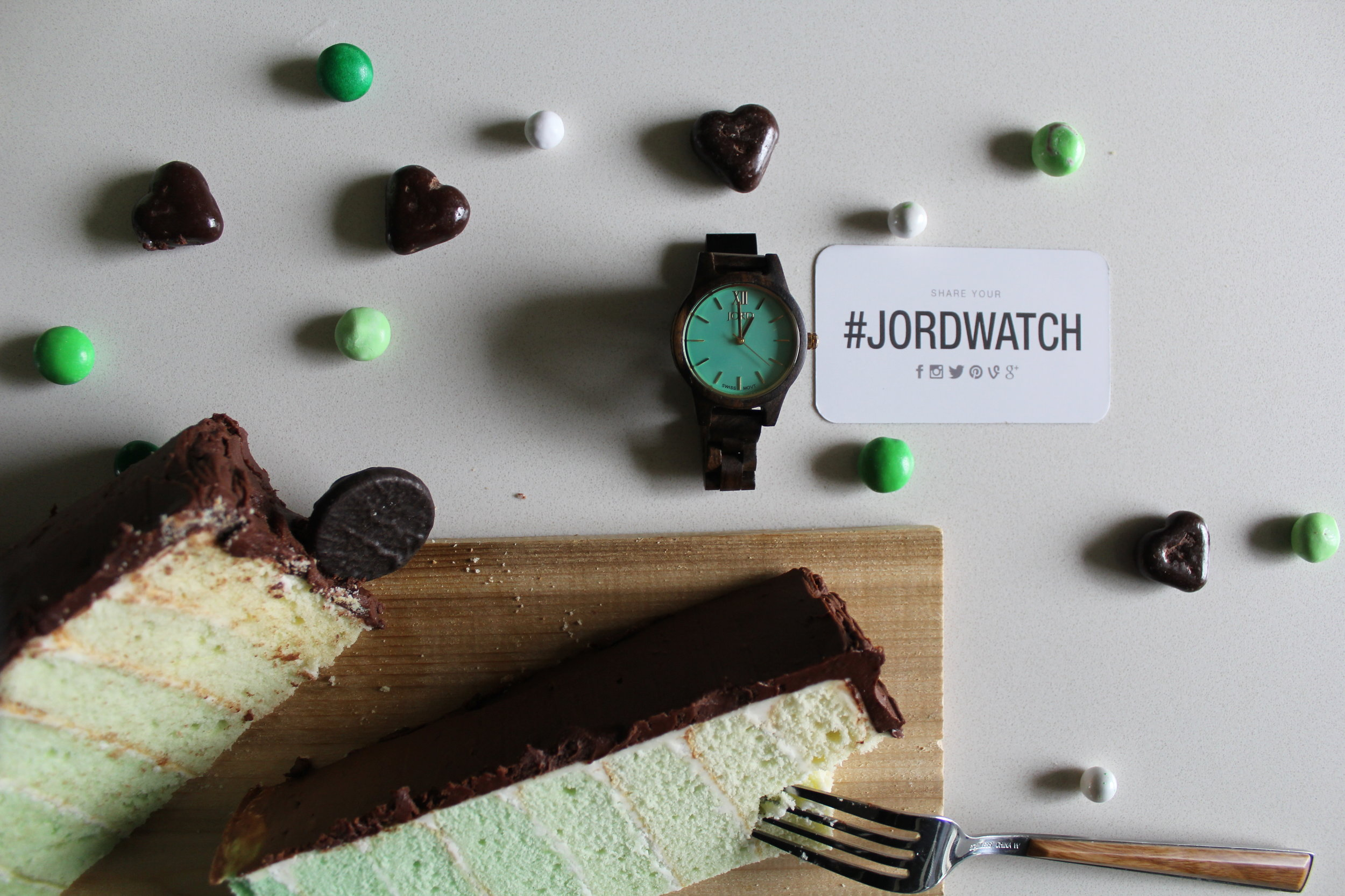 MINT GREEN OMBRE LAYER CAKE + JORD WATCH GIVEAWAY