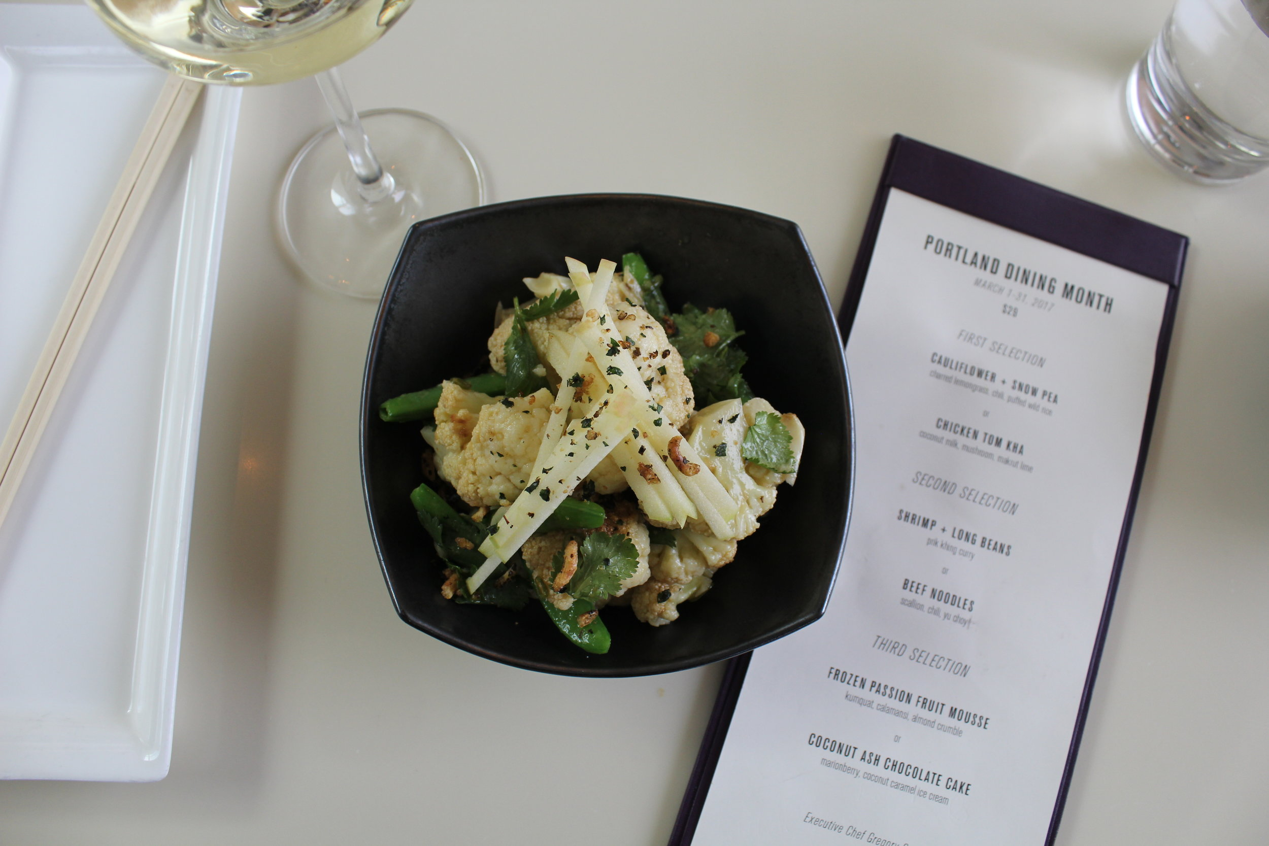PORTLAND DINING MONTH AT DEPARTURE