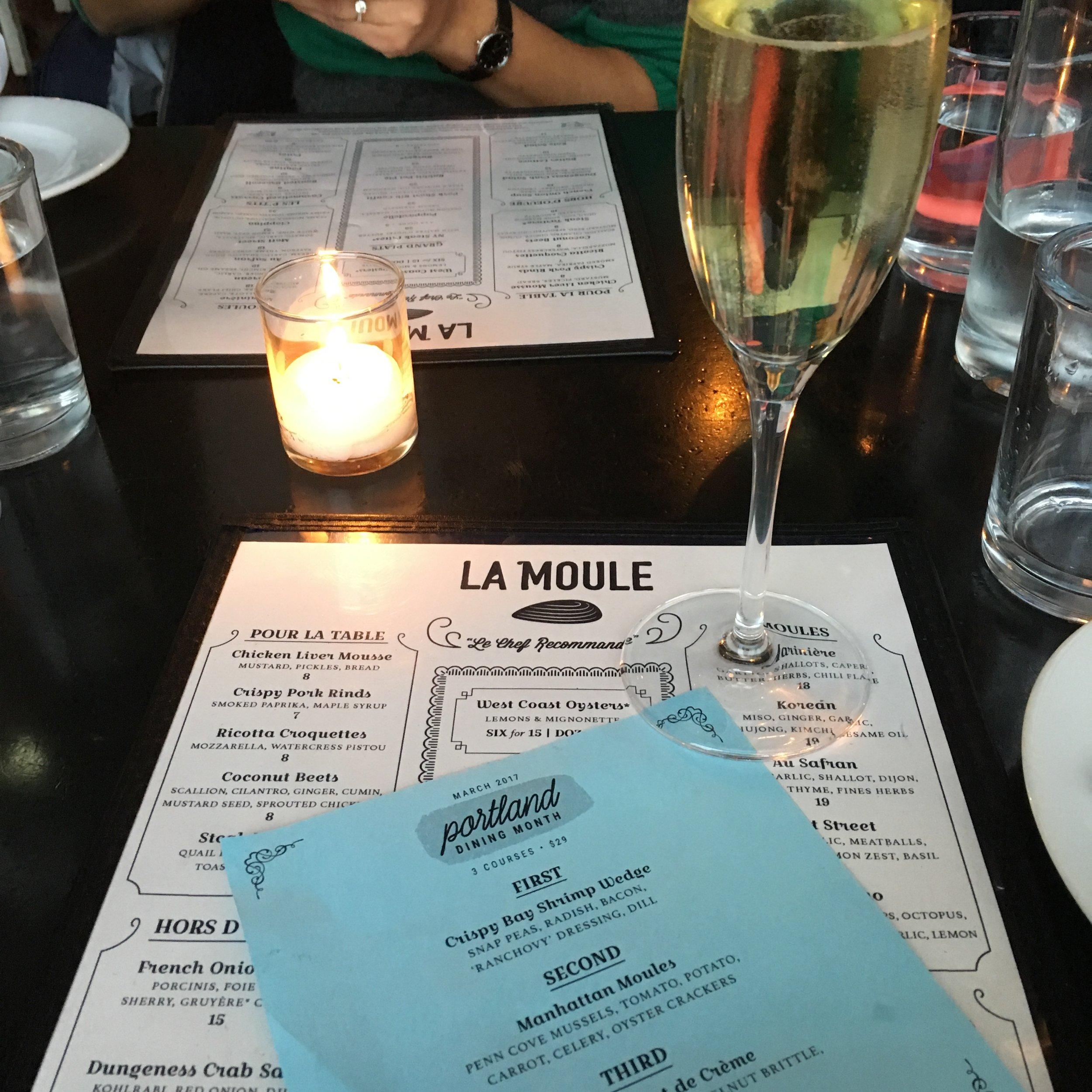 PORTLAND DINING MONTH AT LA MOULE