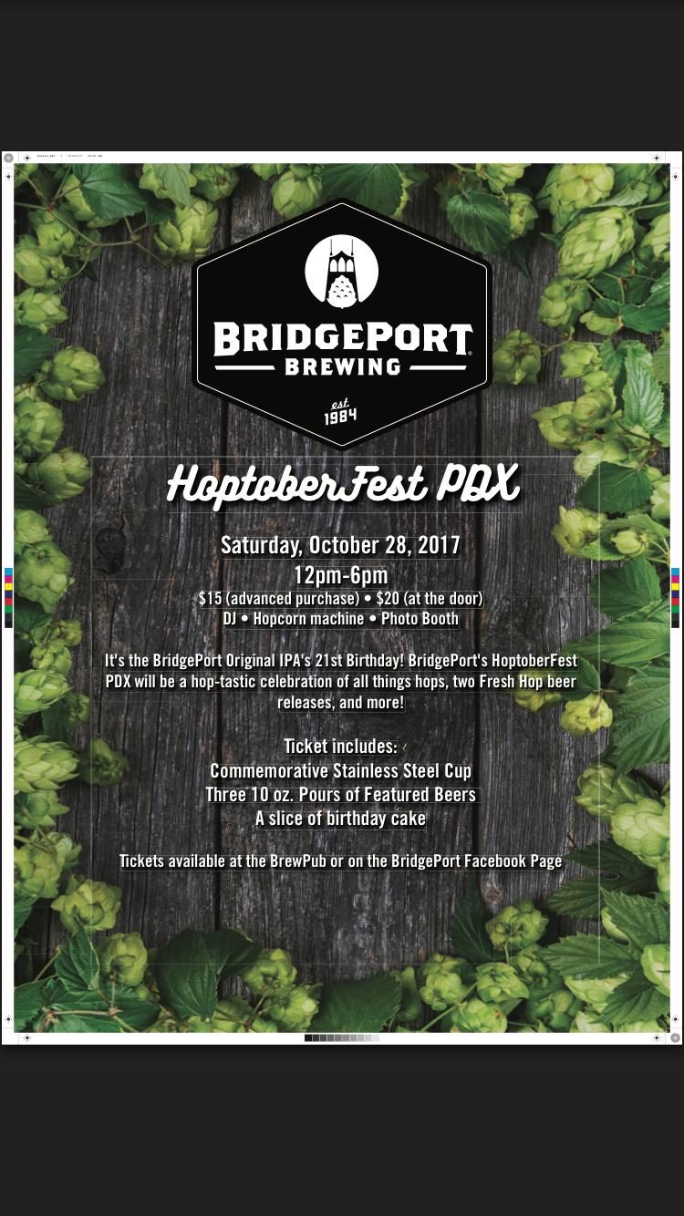 BridgePort Brewing HoptoberFest 10/28