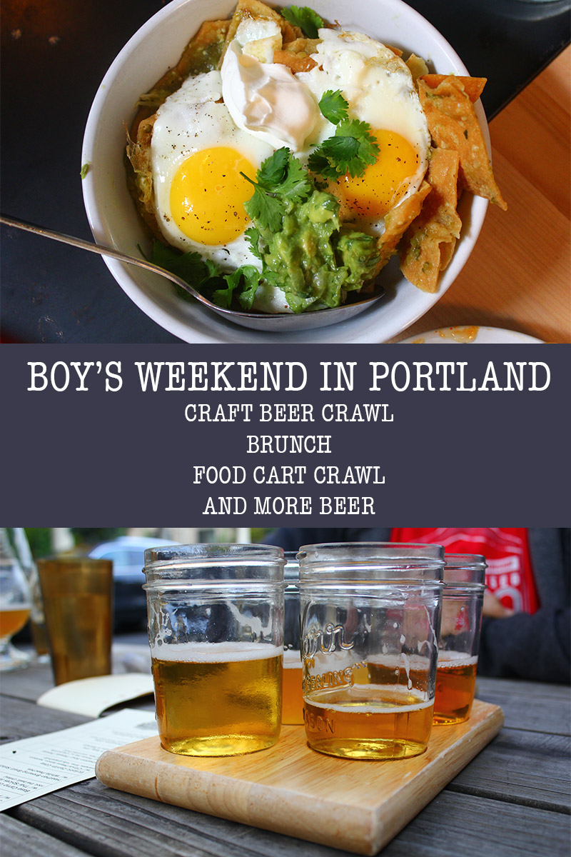 BOYS WEEKEND IN PORTLAND: BEER CRAWL, BRUNCH, BEER, AND CART CRAWL