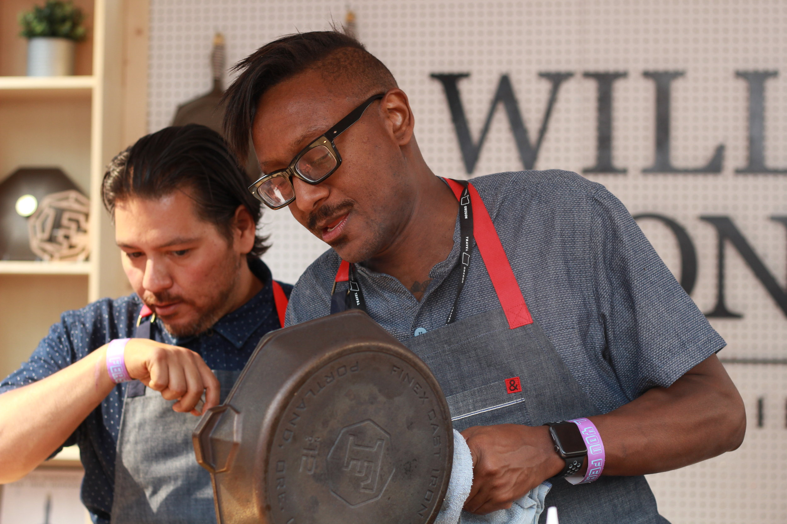 Chef Ray Garcia and Chef Gregory Gourdet
