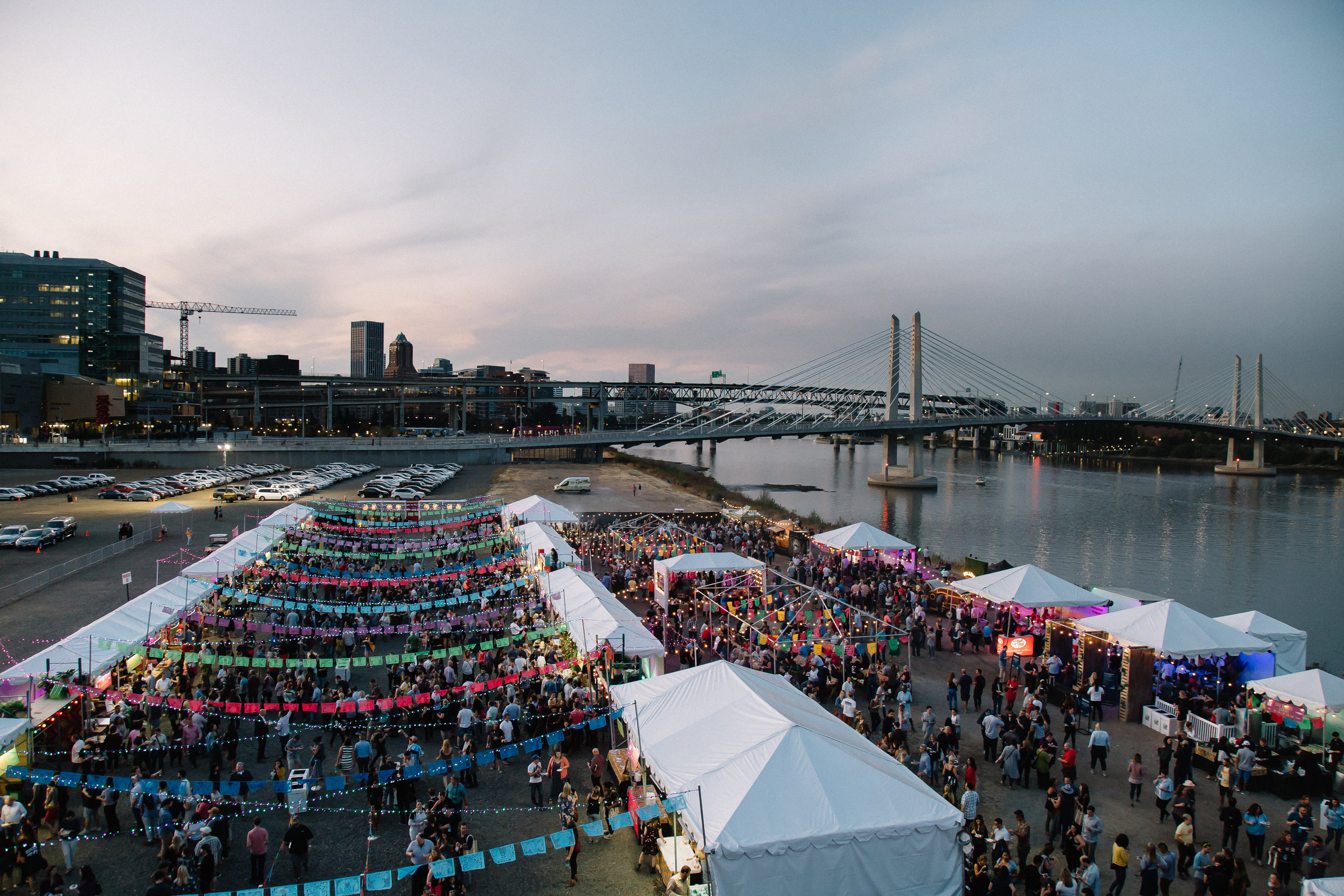 Scenes from before sunset at Night Market