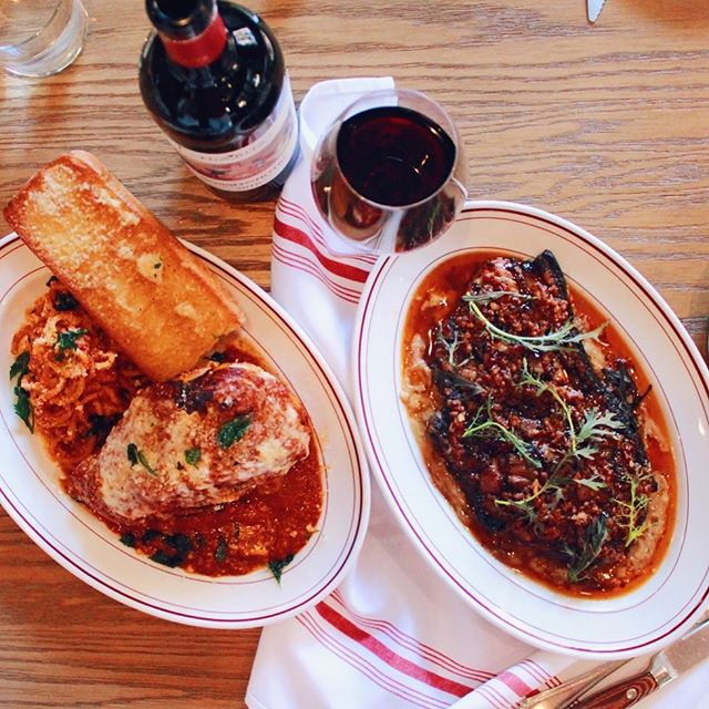 Enjoying this #WineWednesday with a side of chicken parm and pork blade steak. How about you?⁠⠀ ⁠⠀ If you've not added @ilsolitopdx to your date night rotation let me tell you, you've been date-nighting all wrong!⁠⠀ ⁠⠀ ⁠⠀ ⁠⠀ ⁠⠀ #maxeneeatspdx ⁠ #ilsolitopdx #kimptonhotels #downtownpdx⁠⠀ -⁠⠀ -⁠⠀ -⁠⠀ -⁠⠀ #eaterpdx #portland #chasinglight #topcitybites #YelpEatsPDX  #portlandfood #travelportland #onthetable #dishedpdx #tastemade #heresmyfood #foodcoma #zagat #portlandfoodie #eatfamous #bestfoodportland #travelchannel #italianfood #foodspotting #gloobyfood⁠⠀ #girlswholift #gains #eeeeeats #iifym ⁠⠀ ⁠⠀