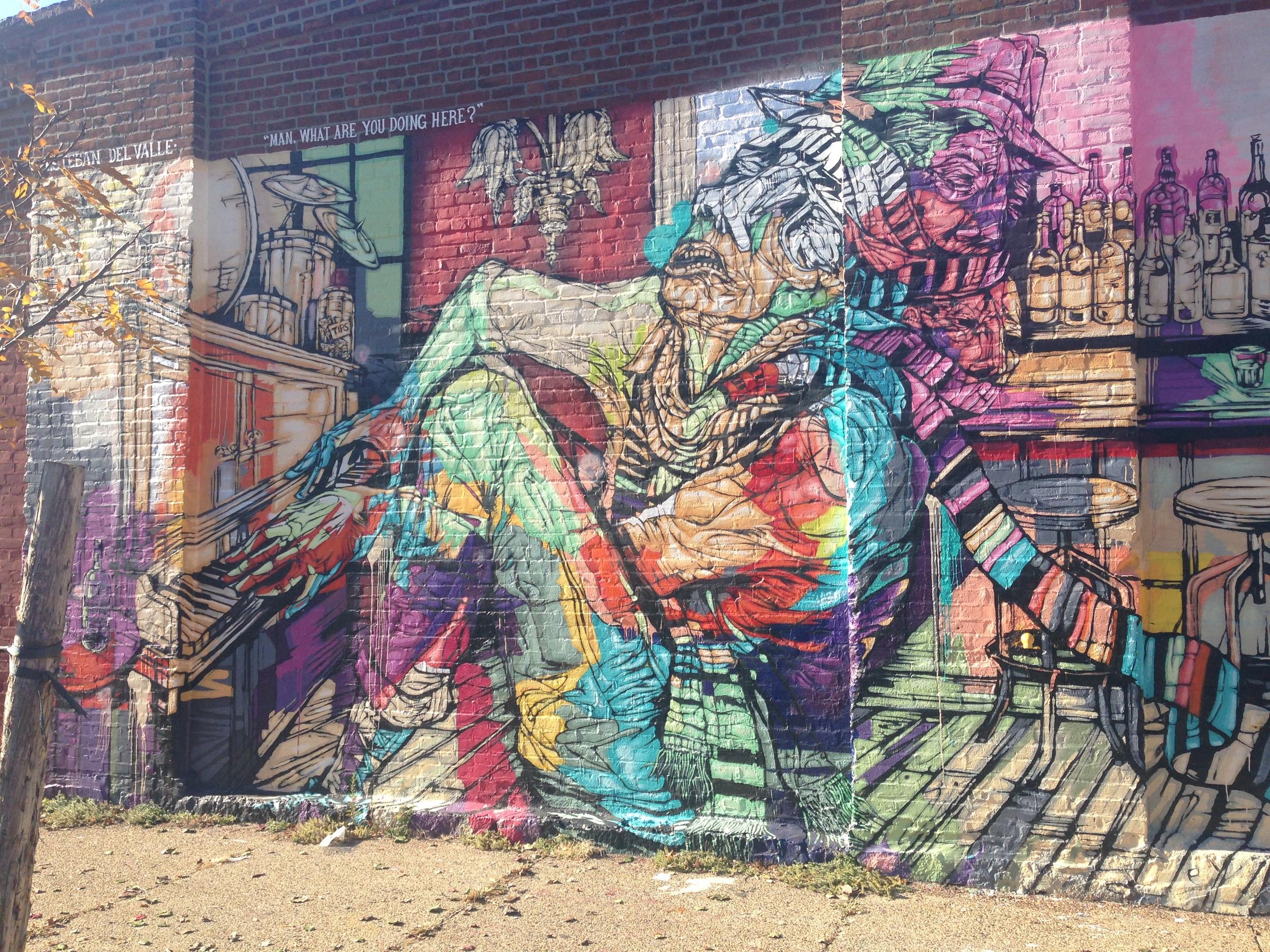 Red Hook mural by  Esteban del Valle .