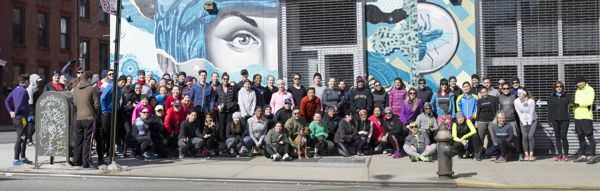 Photo by  Marques Jackson at #BkArtRun in front of Tristan Eaton mural.