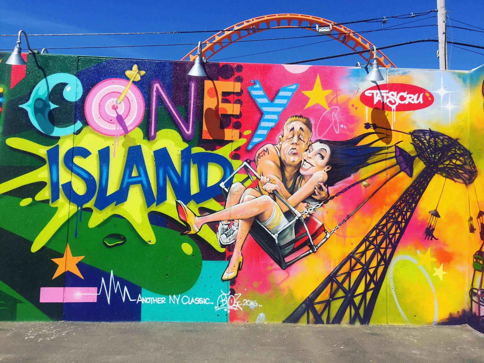 New mural by  Tats Cru  at  Coney Art Walls  in Coney Island, Brooklyn.