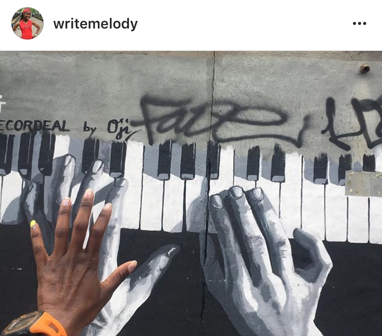 Congrats to our photo contest winner @writemelody on her creative shot at the Bushwick Collective!. Mural by  Oji .