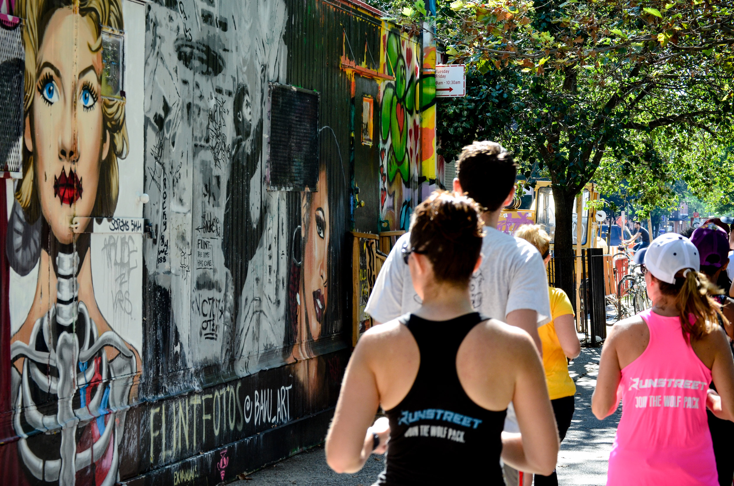 Running by  Centre-fuge Public Art Project .