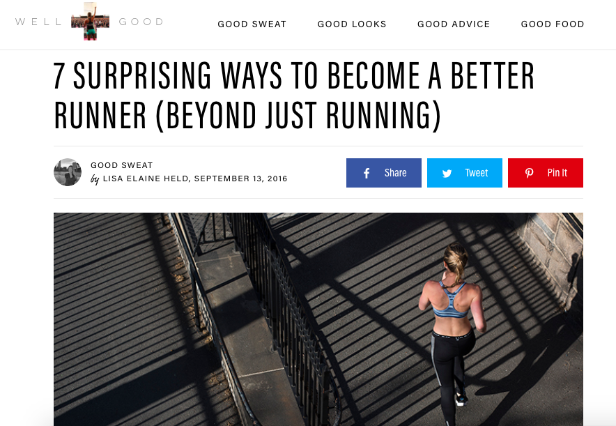 Runstreet coach Marnie offers running tips in  Well + Good NYC .
