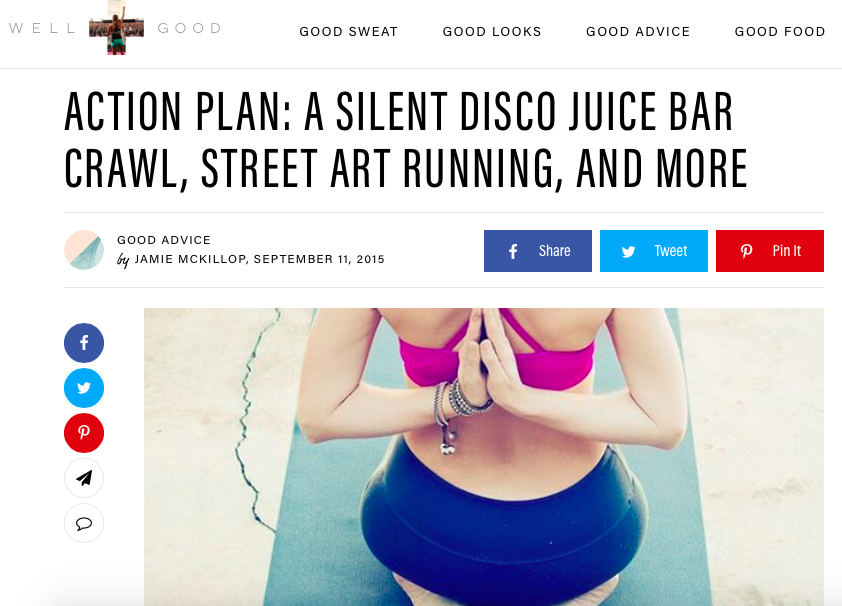 Runstreet Art Run featured in  Well + Good NYC .