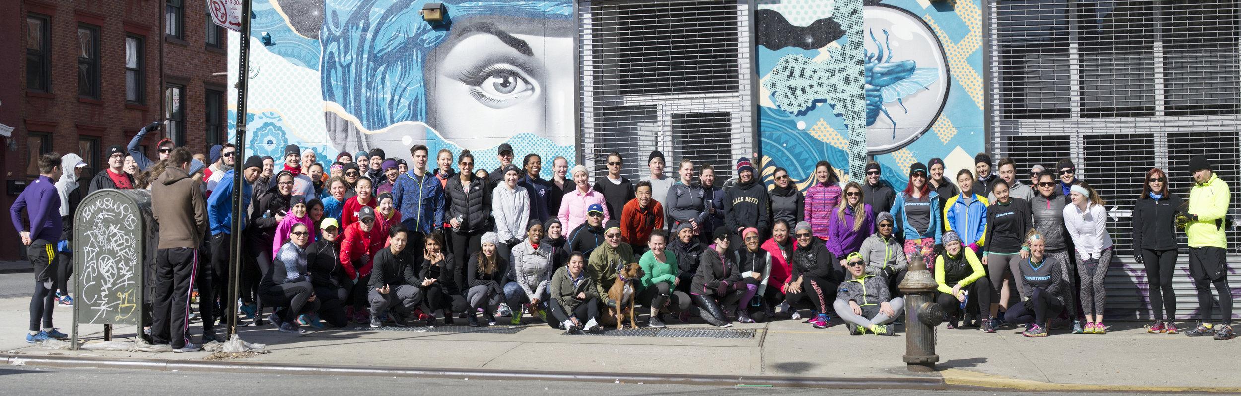 Tristan Eaton mural from Runstreet Art Run in Williamsburg. Photo by  Filles + Garcons .