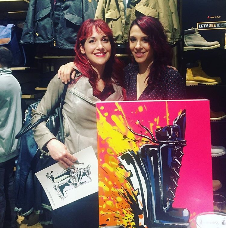 I first met the amazing artist Rene Xors at her Timberland collaboration exhibit in SoHo in November 2016.