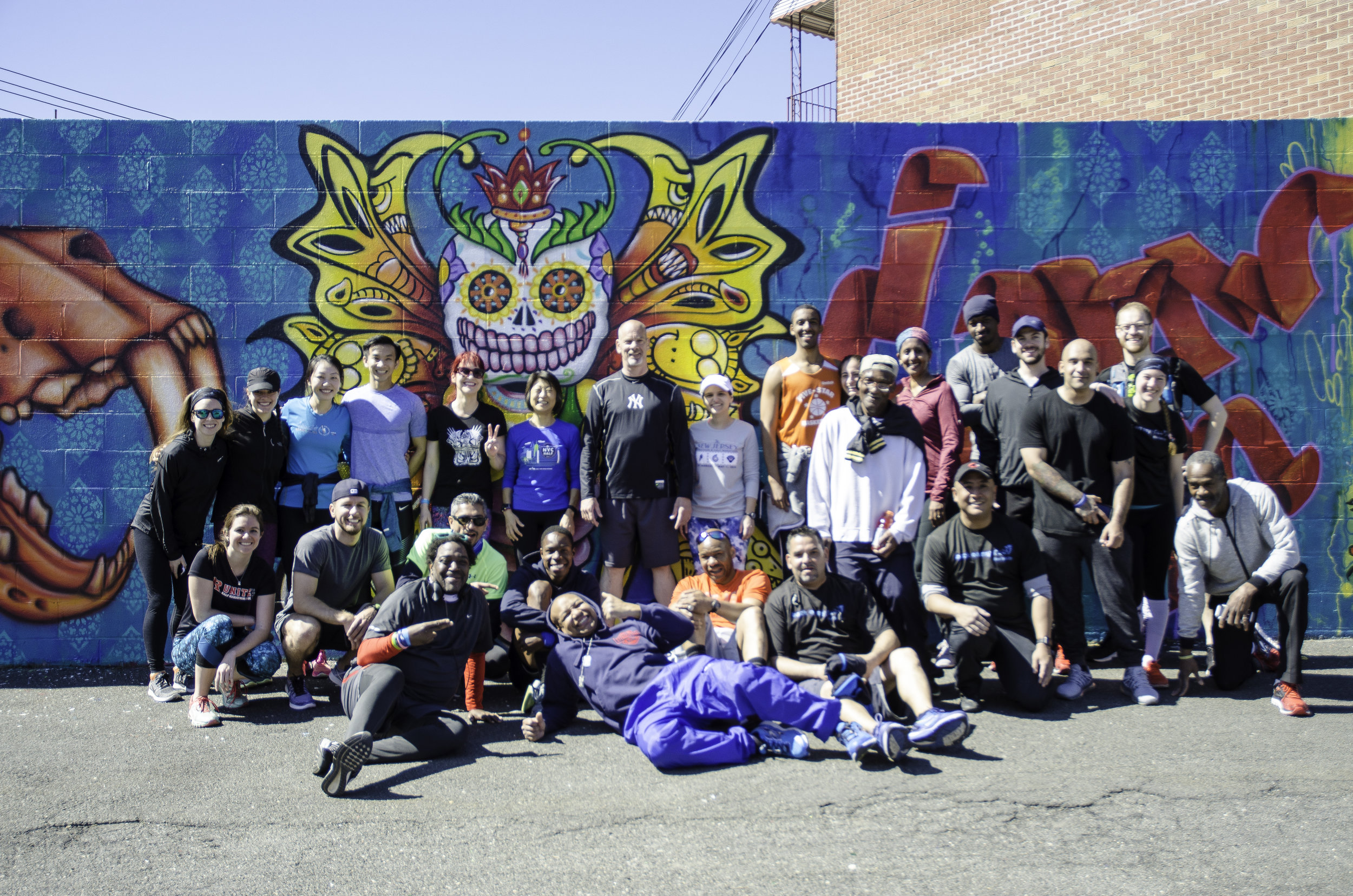 Runstreet Queens Art Run with Back on My Feet NYC at Welling Court Mural Project. Photo by  Filles Garcons Photography .
