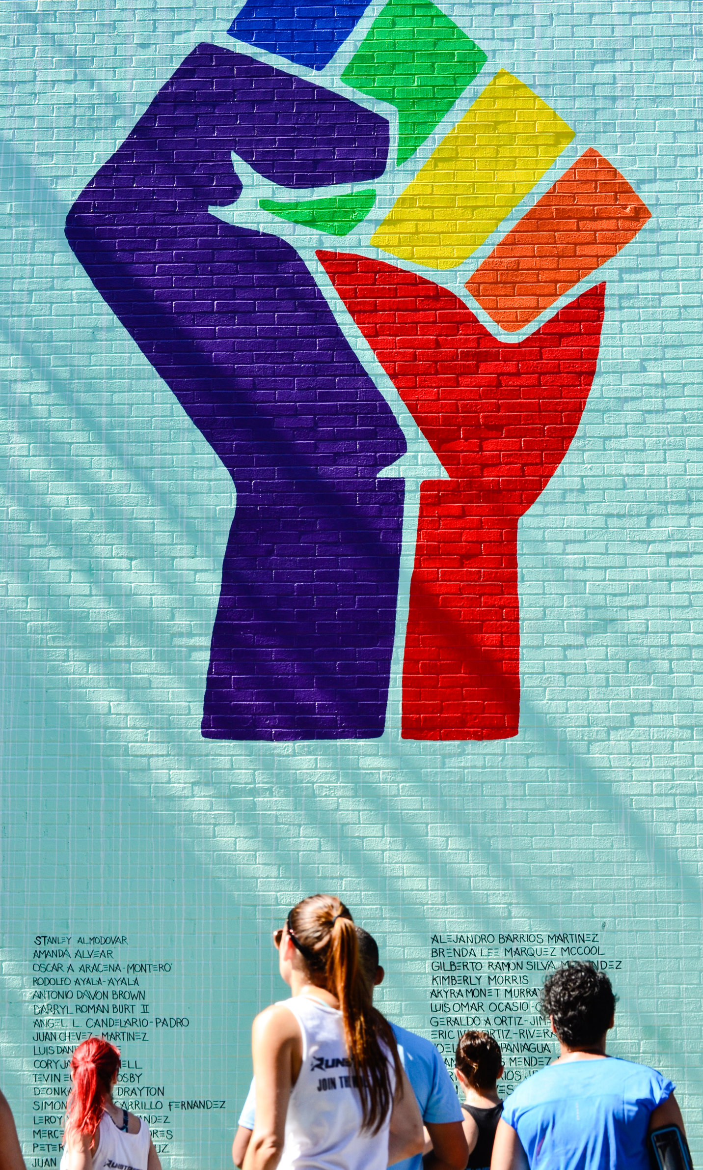 Photo by  Marques Jackson  at PRIDE mural in NYC by Gilf.