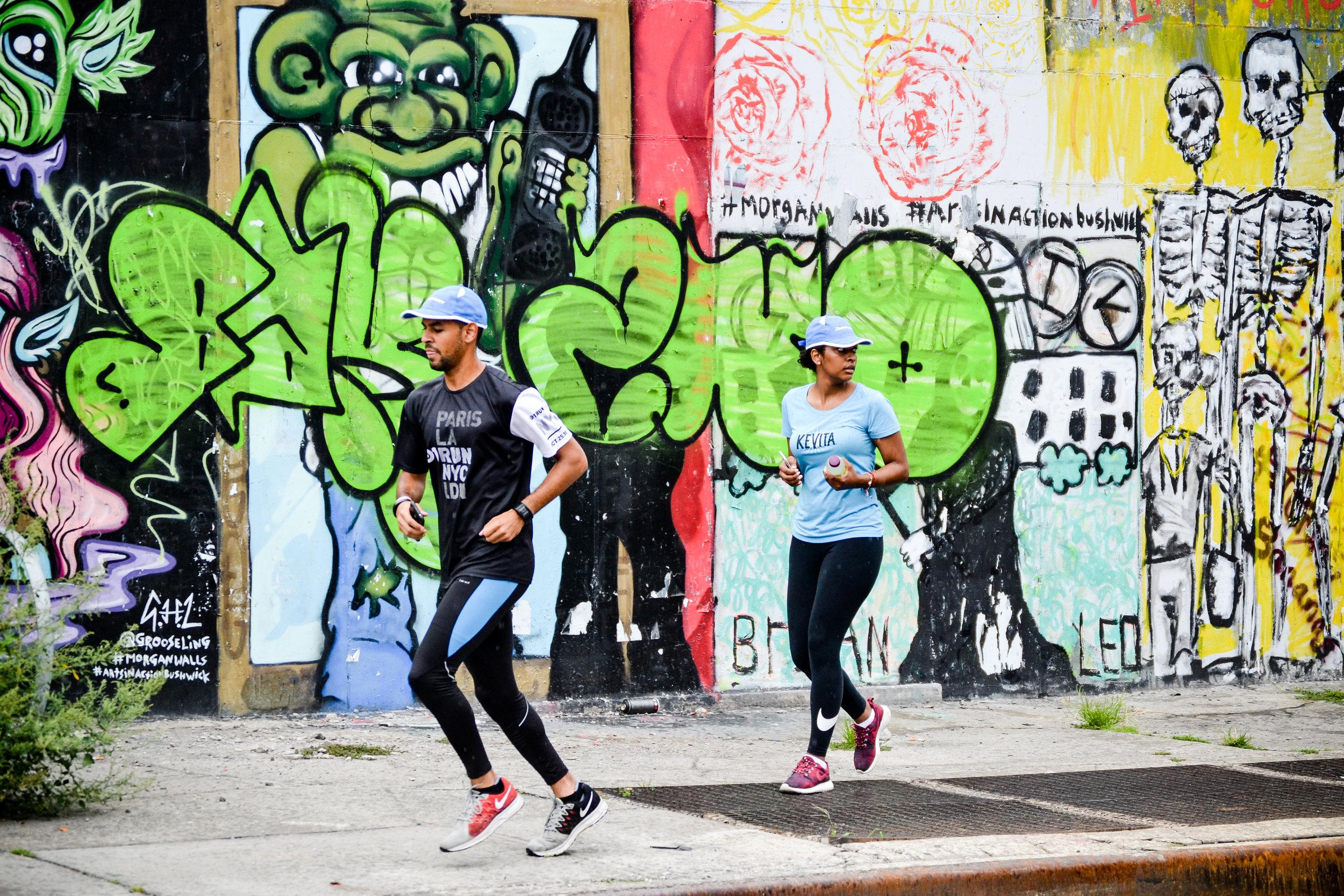 Runstreet Bushwick Art Run photo by  Filles Garcons Photography .