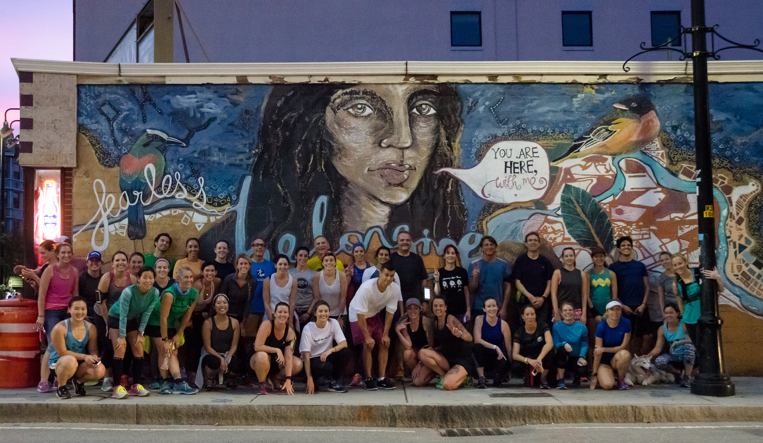 Photo by  Filles Garcons Photography  at the Fearless Collective mural in Cambridge, Mass.