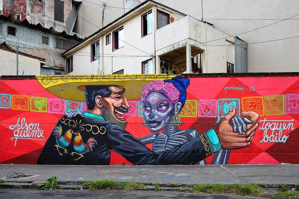 Mural by Apitatan in Mexico City.