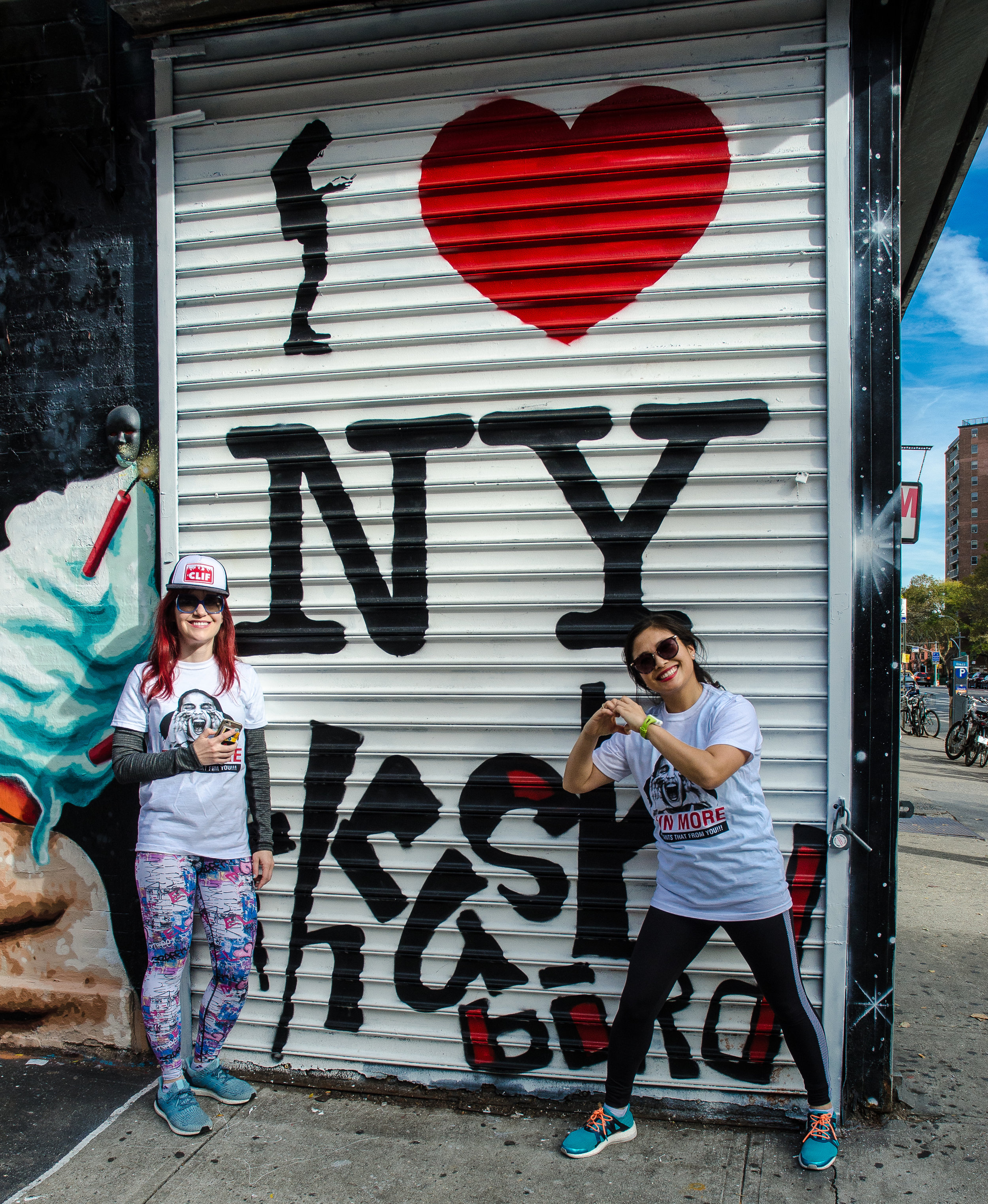 I Love NY street art by  Thrashbird . Photo by  Filles Garcons Photography .