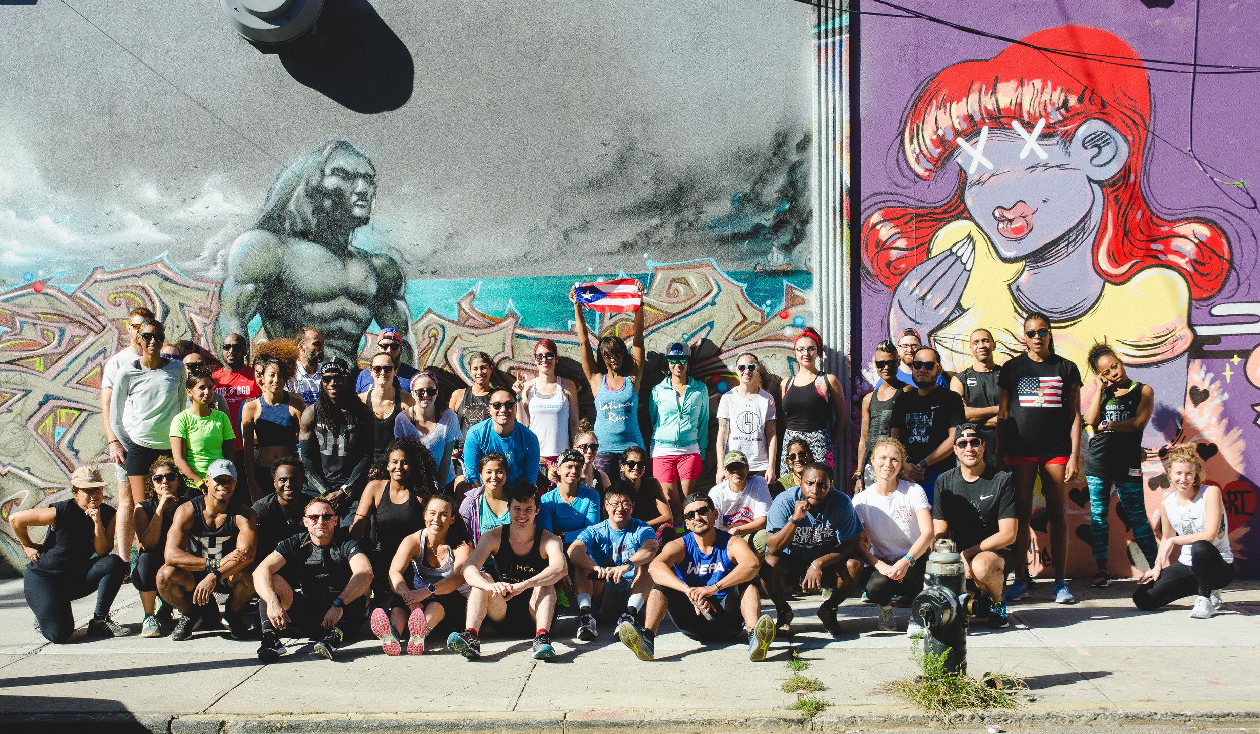 Art Run for Puerto Rico at JMZ Walls. Photo by  Filles Garcons Photography .