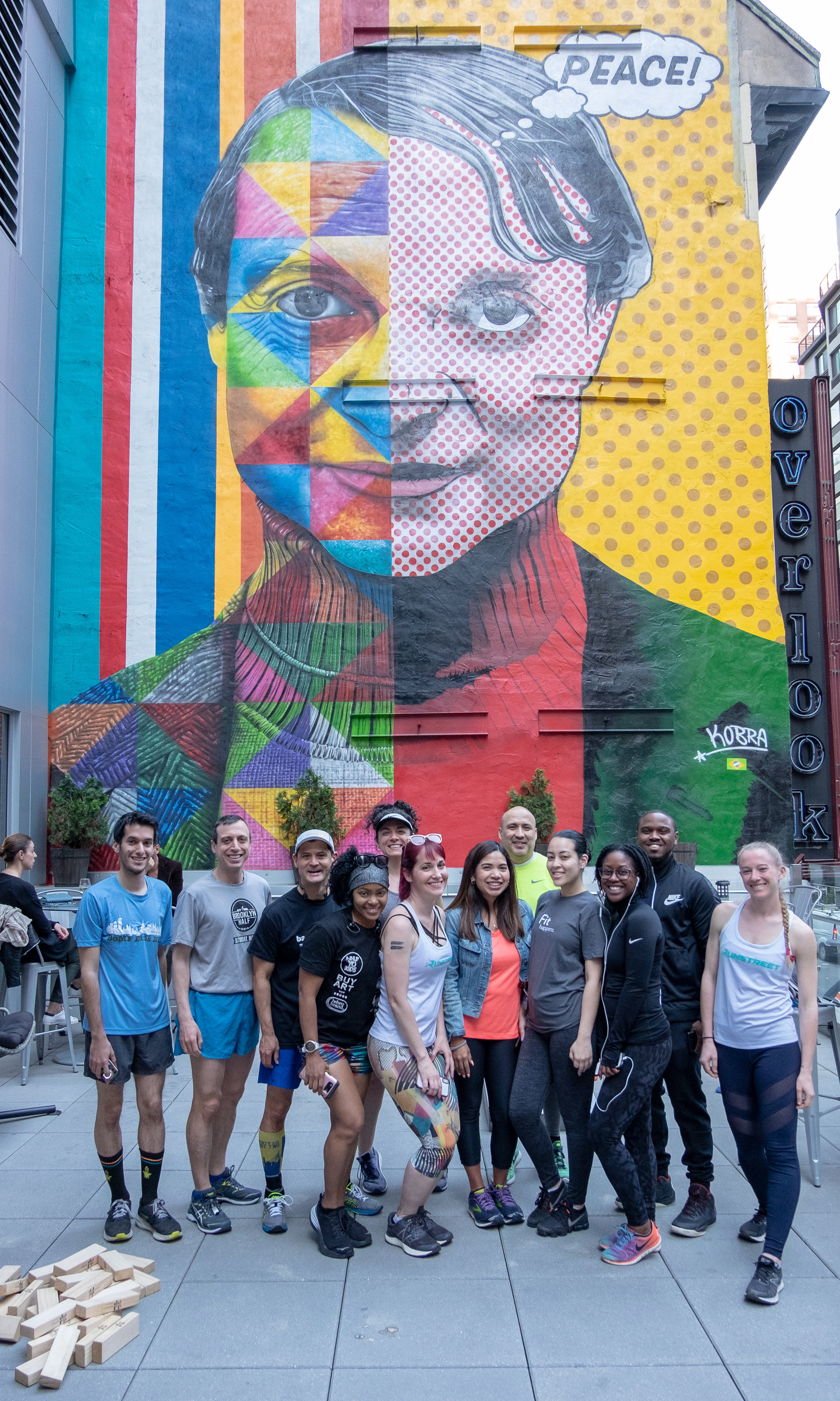 Mural at EVEN Hotels Midtown East by Kobra. Photos by Marques Jackson/ Filles Garçons Photography .