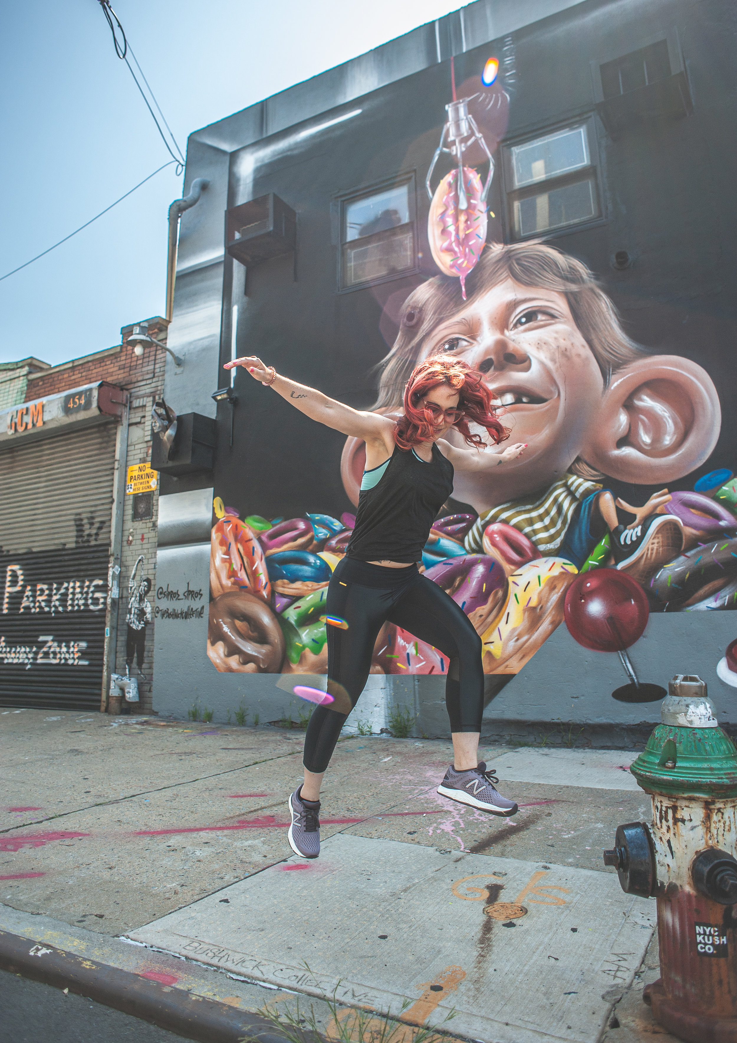 Mural by Brazilian artist  Sipros  at the Bushwick Collective.