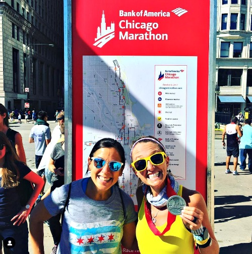 Me and Carlee at 2018 Chicago Marathon.
