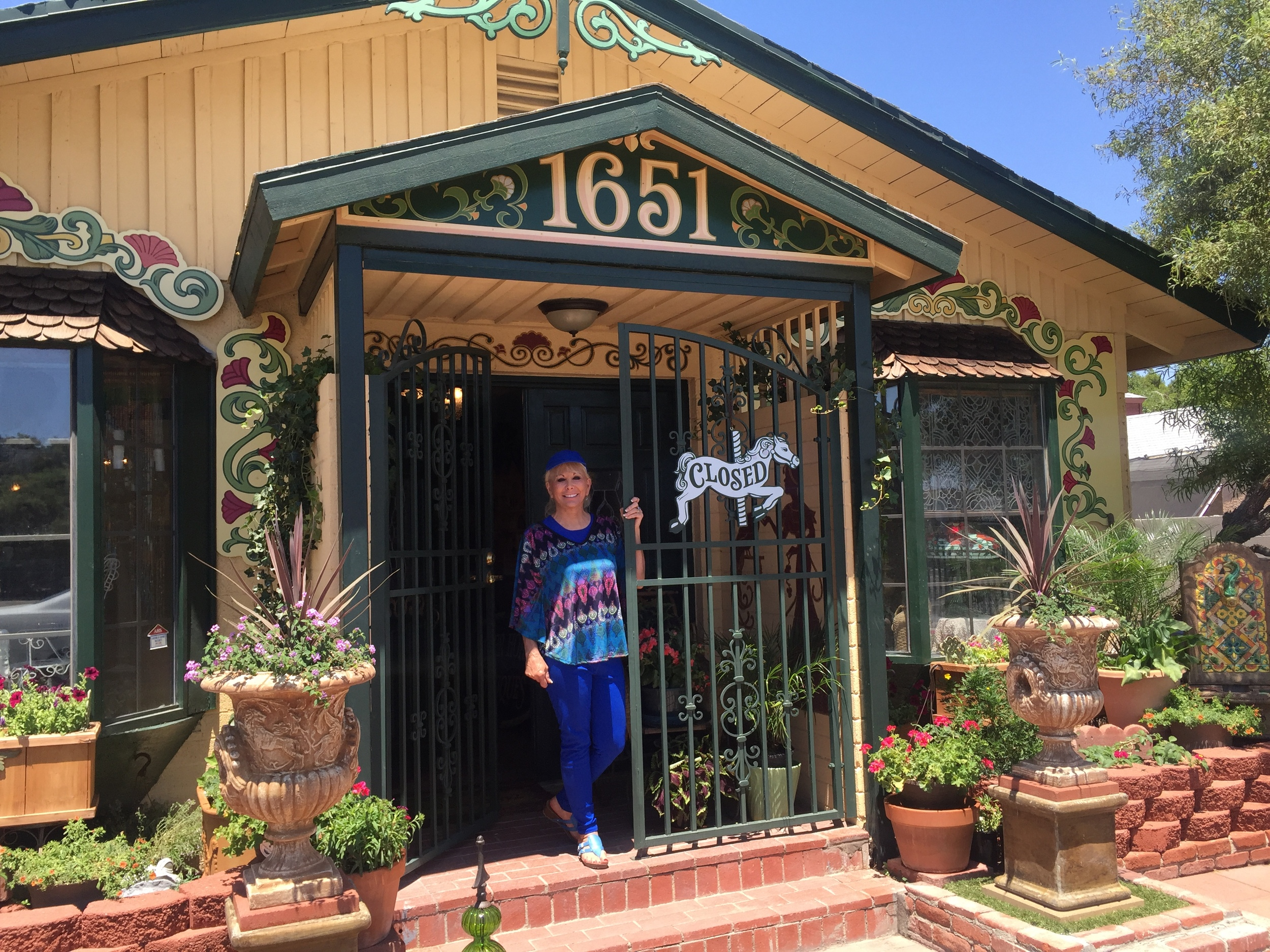 The lovely Leslie Bell, owner of Silver Horse Antiques, Las Vegas