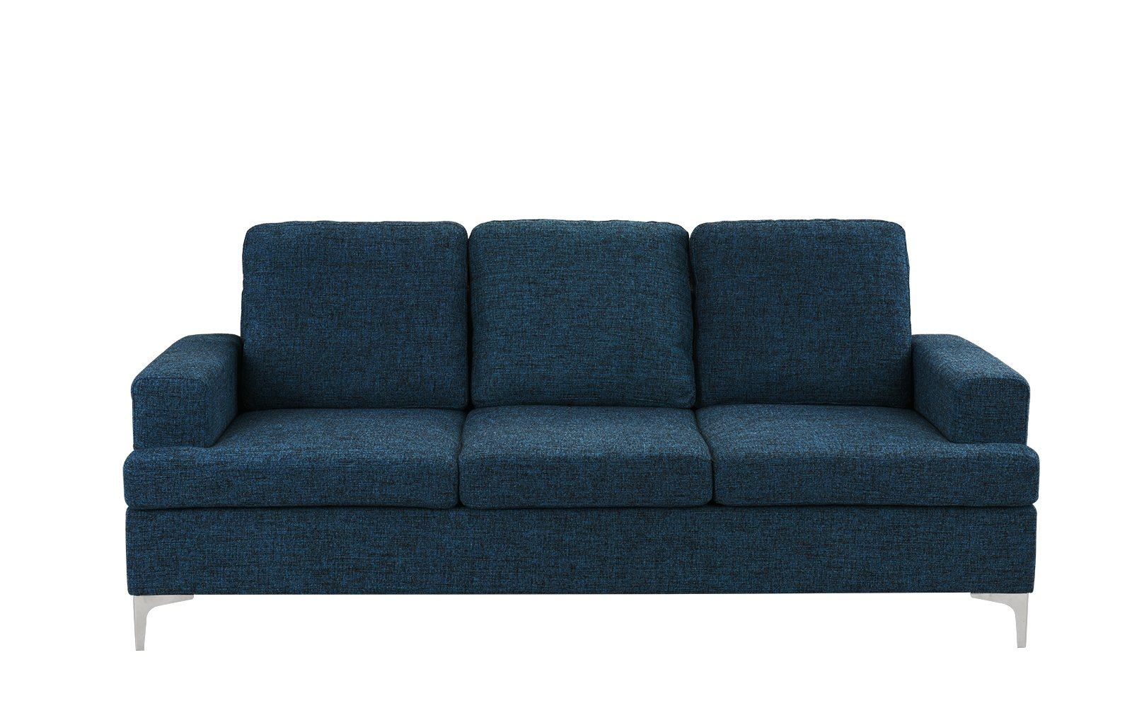 delos mid-century small space linen sofa - $349.99  this one looks super comfy. it's also big enough to actually lie down on.