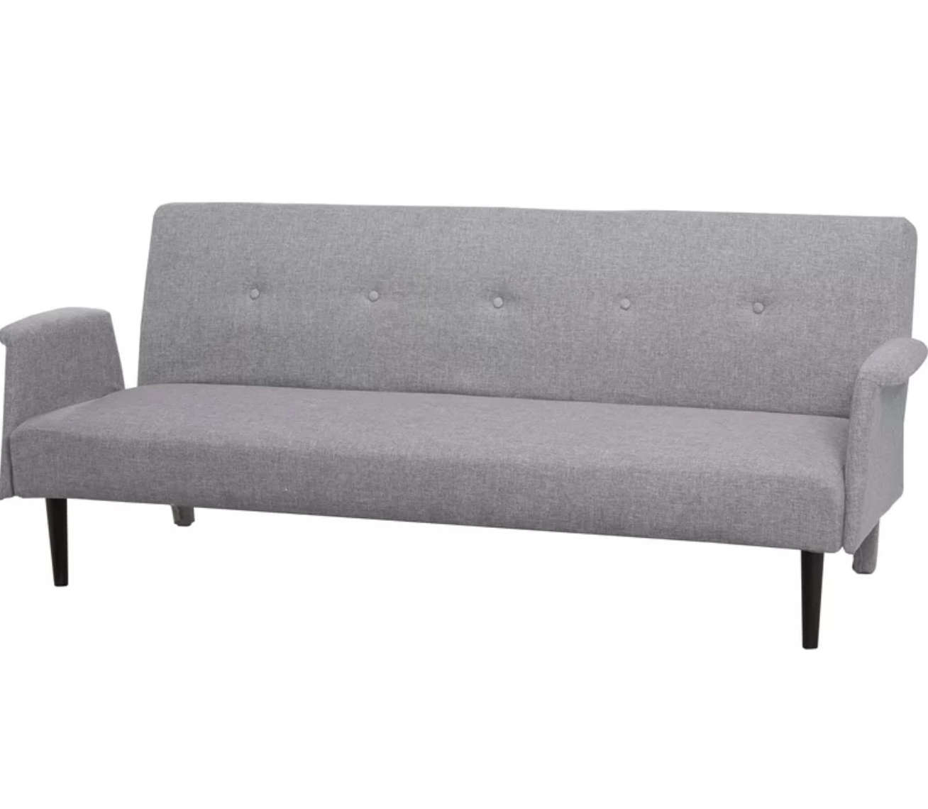 thora sleeper sofa - $263.99  modern look and i think you can fold it so you can lie down on it. not sure if it's the most comfortable.