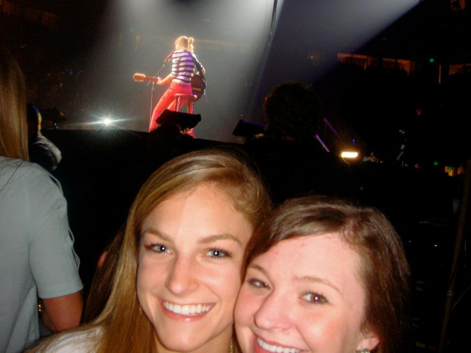 That's my girl Taylor Swift back there! Last minute floor seats can't ever be passed up!