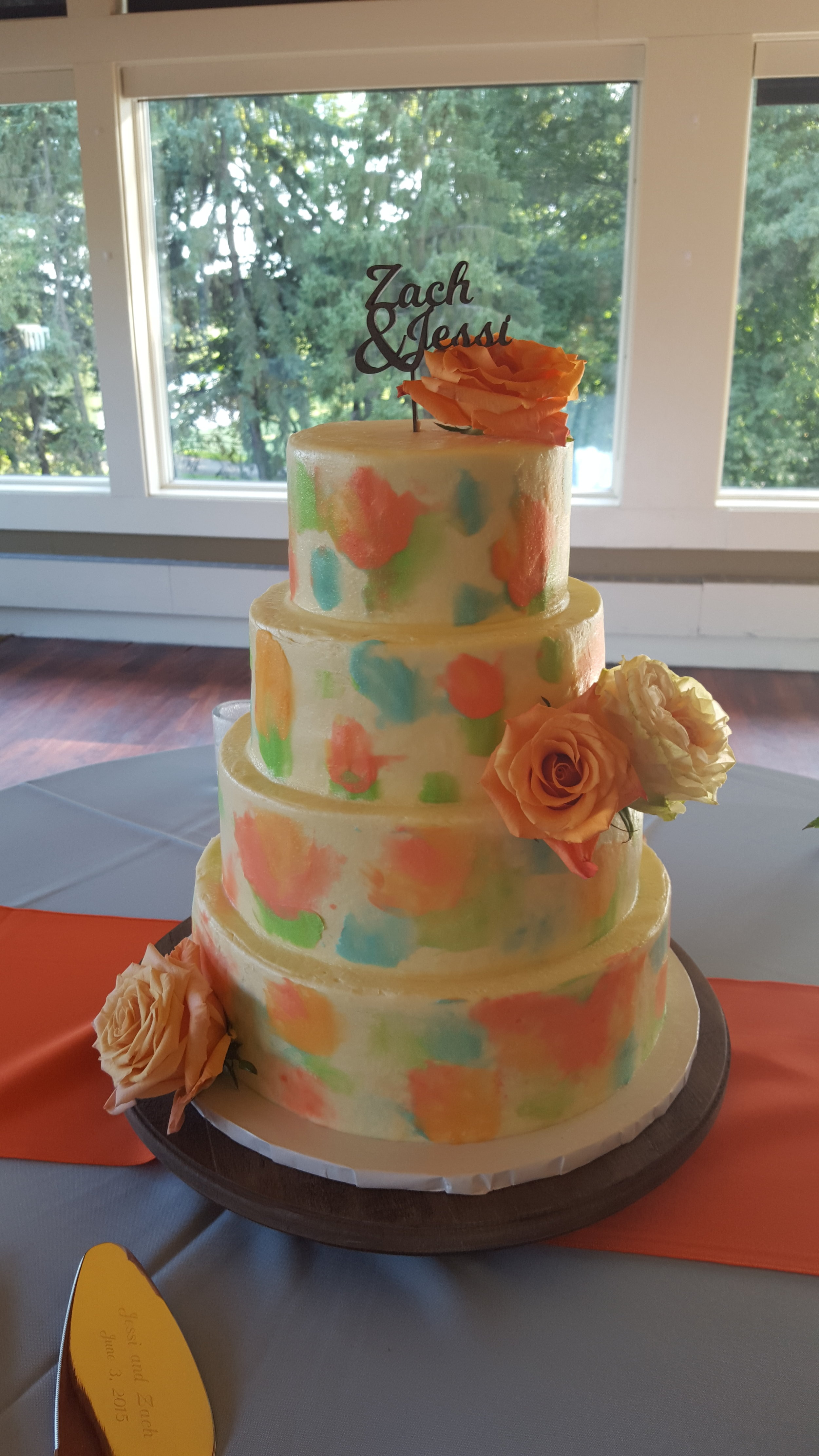 Watercolor Flowers Cake