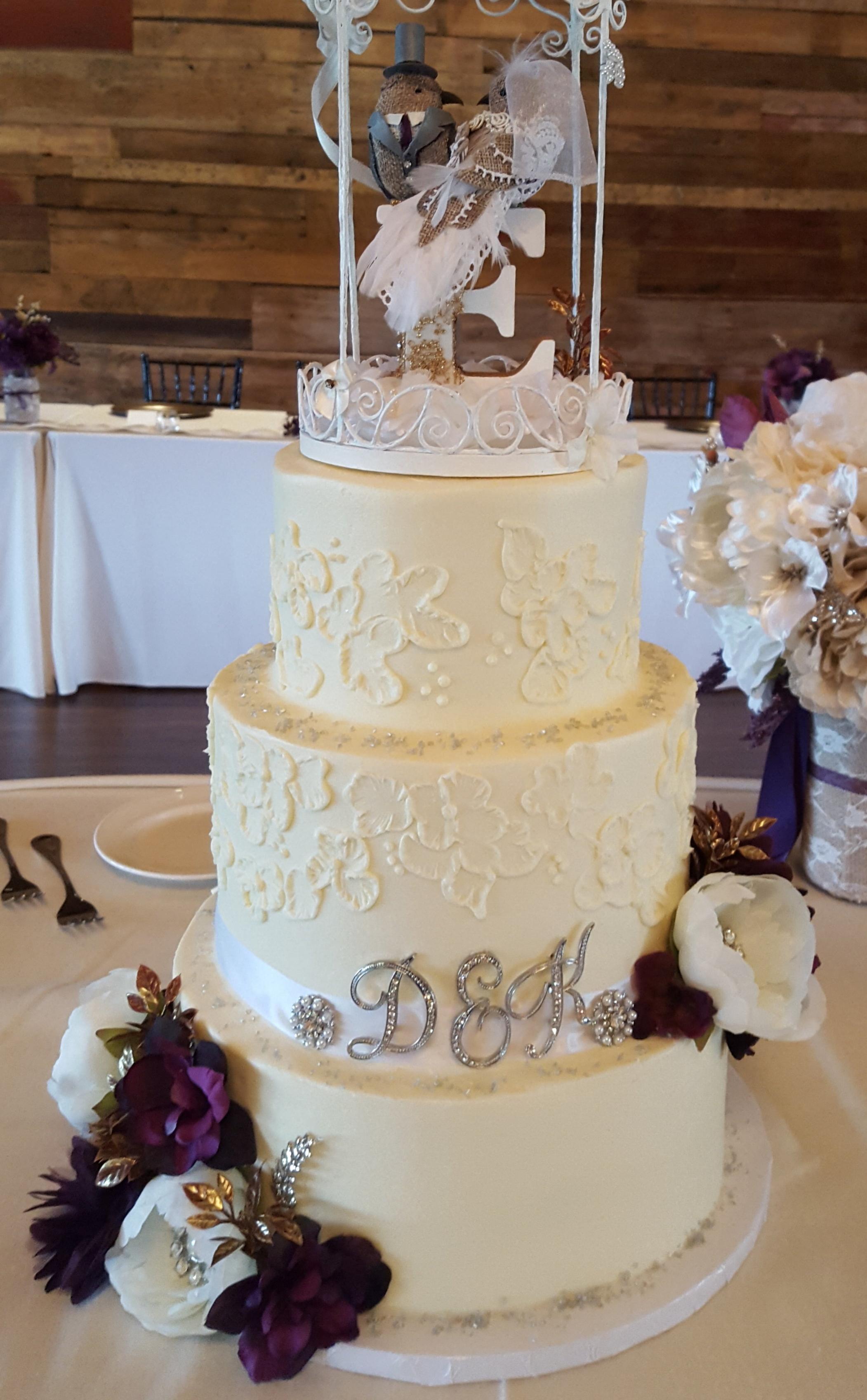 Floral patterned Cake