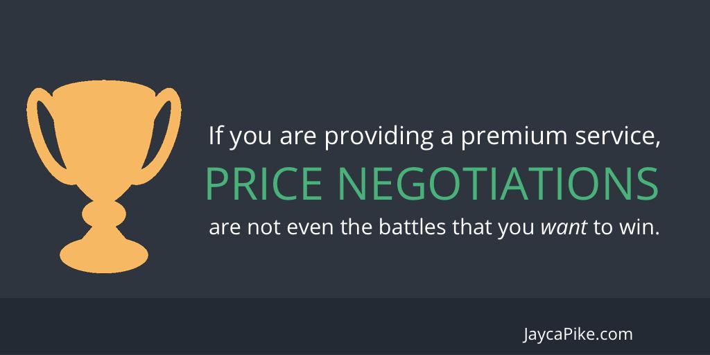 Price war negotiations