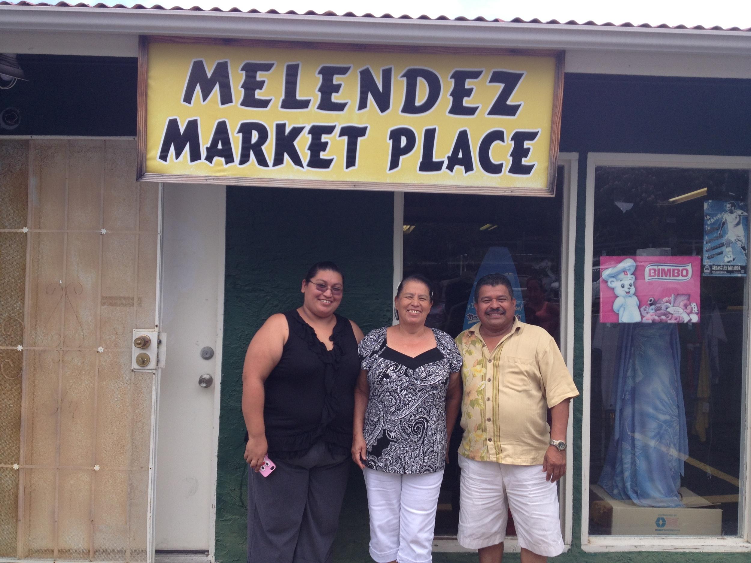 Melendez Family (Nicaraguan). Owners, Melendez Market Place. Big Island.