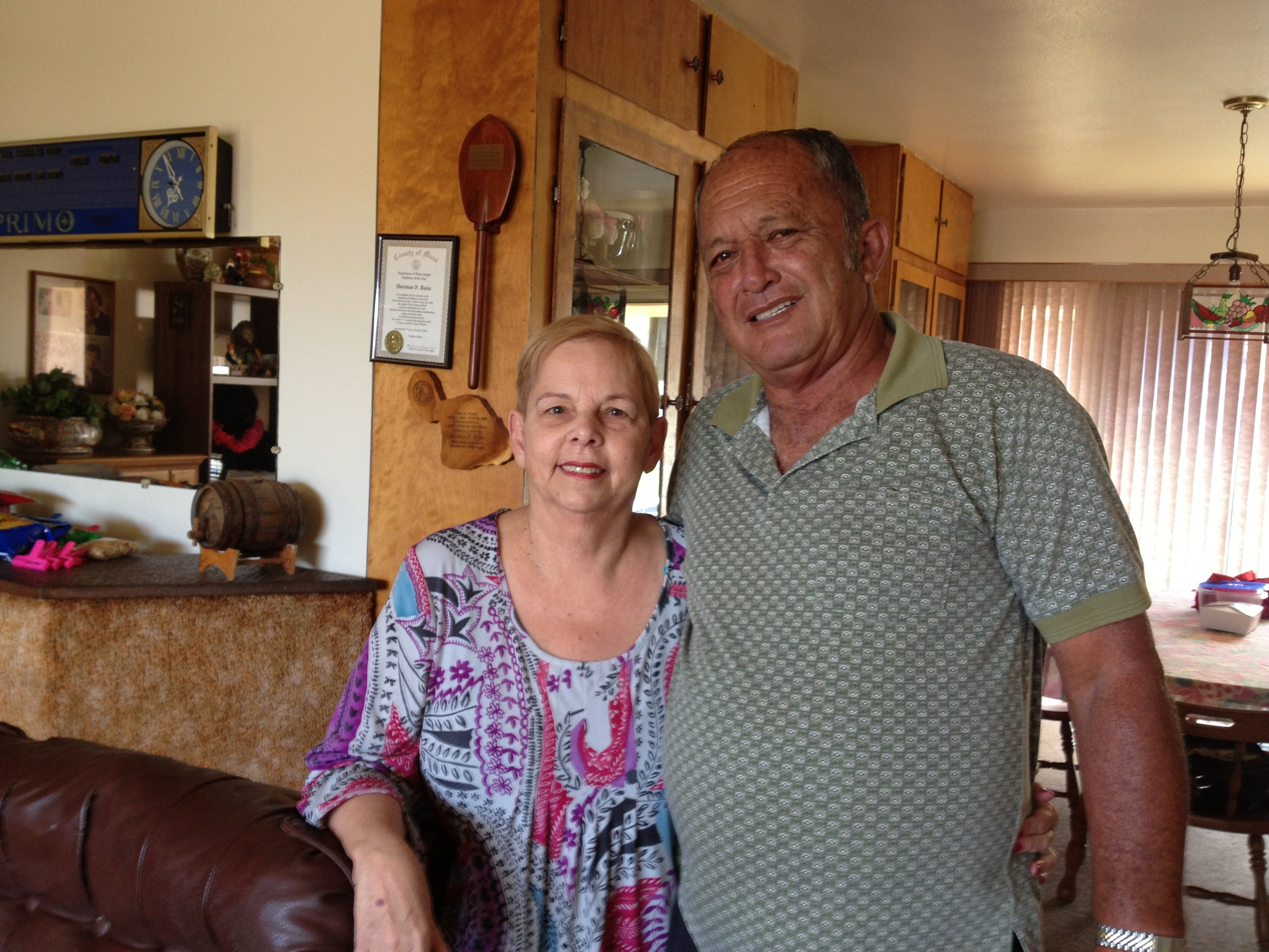"Gladys Baisa with husband Sherman (Portuguese),  Gladys                     Normal   0           false   false   false     EN-US   JA   X-NONE                                                                                                                                                                                                                                                                                                                                                                           /* Style Definitions */ table.MsoNormalTable 	{mso-style-name:""Table Normal""; 	mso-tstyle-rowband-size:0; 	mso-tstyle-colband-size:0; 	mso-style-noshow:yes; 	mso-style-priority:99; 	mso-style-parent:""""; 	mso-padding-alt:0in 5.4pt 0in 5.4pt; 	mso-para-margin:0in; 	mso-para-margin-bottom:.0001pt; 	mso-pagination:widow-orphan; 	font-size:12.0pt; 	font-family:Cambria; 	mso-ascii-font-family:Cambria; 	mso-ascii-theme-font:minor-latin; 	mso-hansi-font-family:Cambria; 	mso-hansi-theme-font:minor-latin;}     was the former director of Maui Economic Opportunity (MEO). Maui."