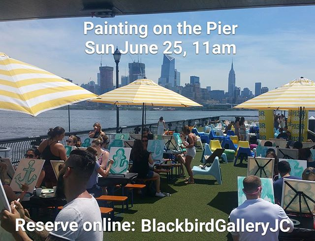 A complimentary cocktail, creativity, and a whole lotta sunshine! Join us for our next outdoor painting on the serene waterfront @pier13hoboken #hoboken #jerseycity #haveanightjc #hobokenhappyhours #thingstodoinNJ #waterfront #outdoors #pier13 #paintandsip #paint #create #family #friends #sundayfunday #anchor #nautical