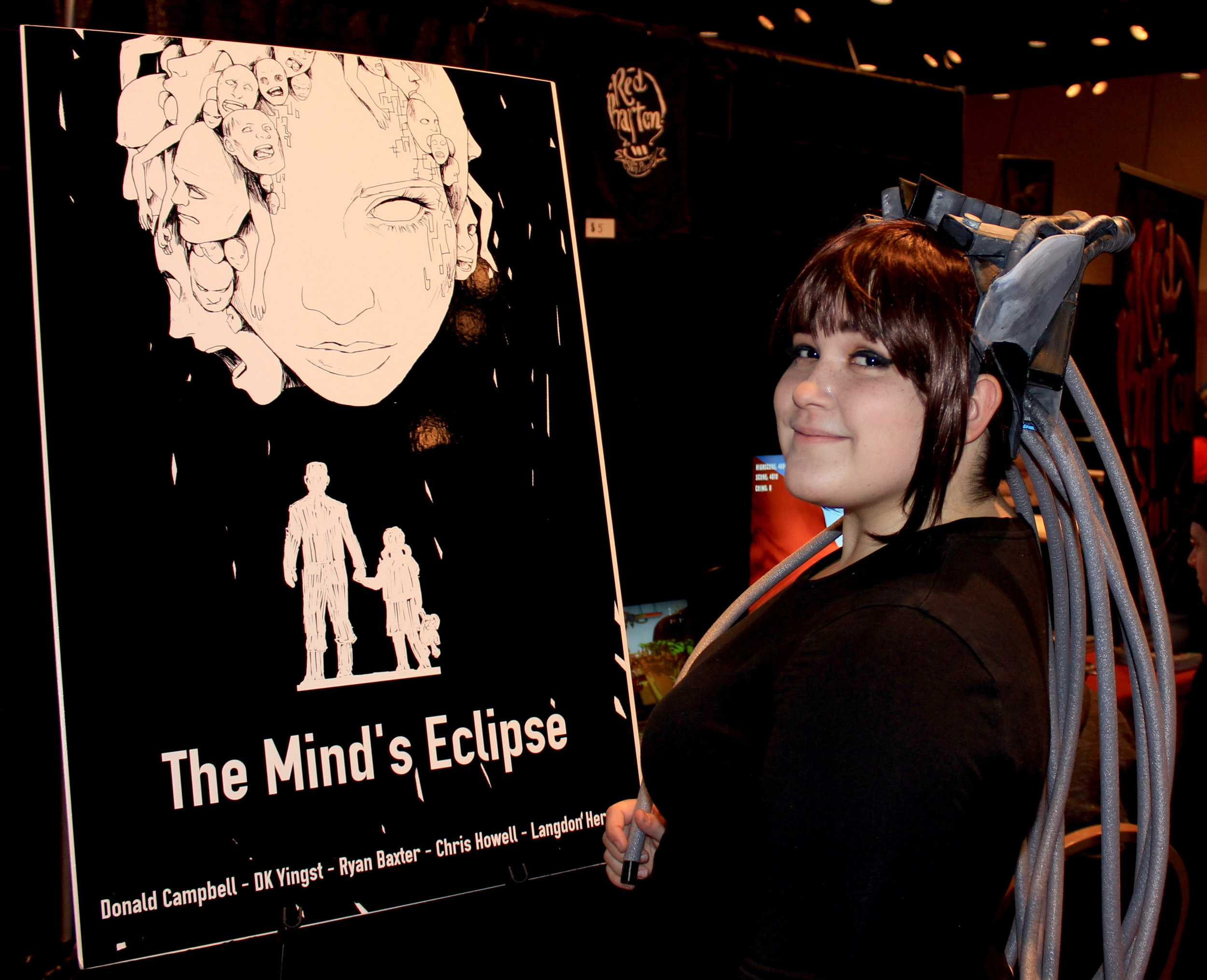 We had the amazing Emily H show up to our booth dressed as L! Click the picture to see her Instagram portfolio!