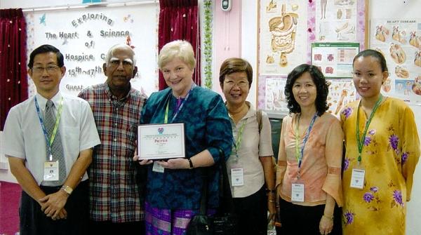 Joy as Patron of the Sandakan Hospice, Malaysia