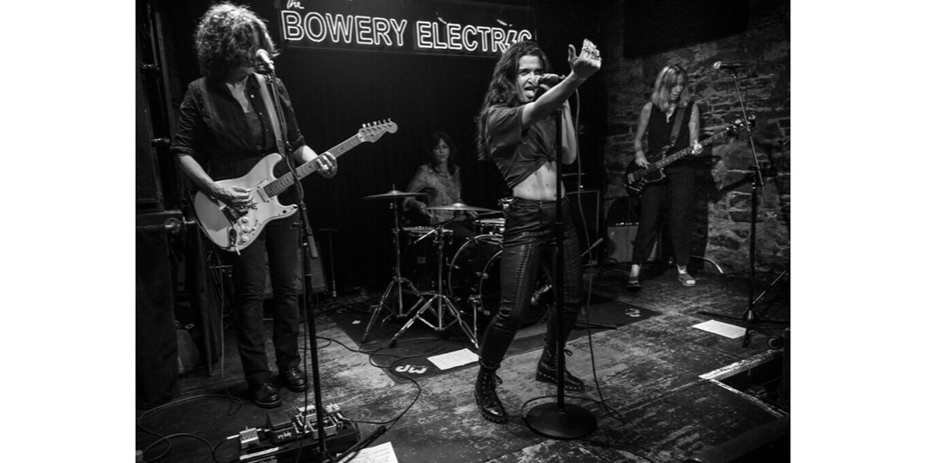 "performing ""I Love Playin' With Fire"" at Bowery Electric, NYC. (feat. Cait O'Riordan, Linda Pitmon, Karyn Kuhl)"