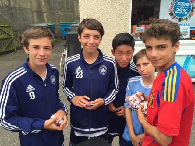 The U14s out and about in Bridge of Allen, Scotland.