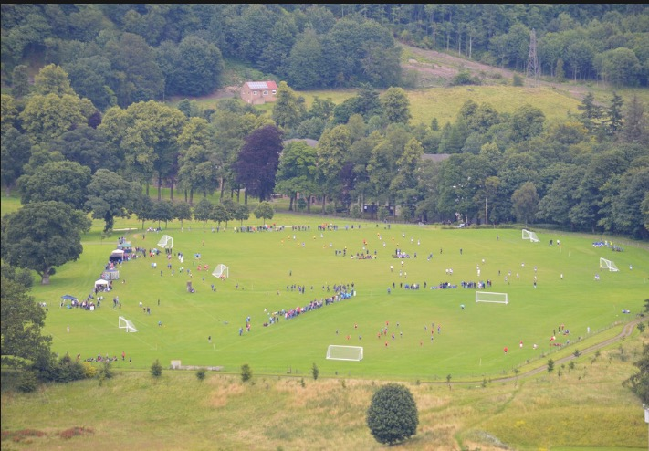 The view of the tournament from the Wallace Monument
