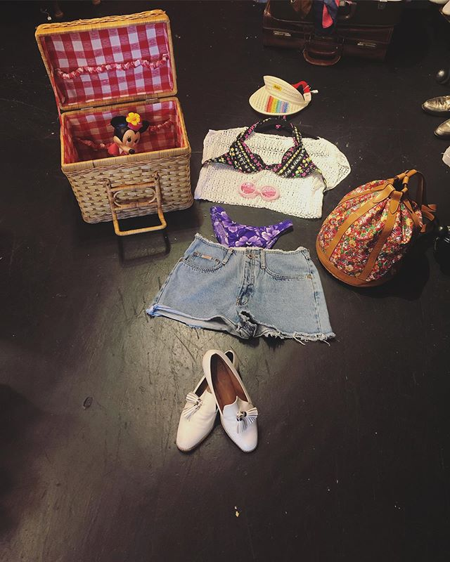 Beach-day ready 👙 🌈Maui Visor 🌈 $15  Rouched crop-top 🕊🕊 - $20 Bluenotes frayed jean shorts - Size 28 🐟🐟 Mix n' match 'kinis 🦋🦋 priced individually! (Come check out!) 🦄🦄 Leather Loafers - Size 9 - $40 👡👡 Picnic basket!!!! $30 🎒🎒 Minnie-mouse 🐰👛 $10 Draw-string backpack 🌸🌺🌼🌸🌼🌻🌼🌸🌼🌺 $50!!