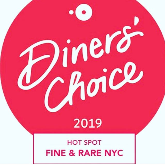 Always a perfect choice, now a 2019 @opentable Hot Spot!  @fineandrarenyc #restaurant #hotspot #nyc #dinerschoice