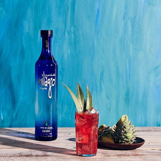 "Celebrating Cinco de Mayo with a @milagrotequila Tepa Highball  1.5 parts Milagro Silver 2 parts Tepache .25 part Agave Nectar .25 part Yuzu Juice Topo Chico Garnish: 3 ""spears"" arranged to look like an agave plant"