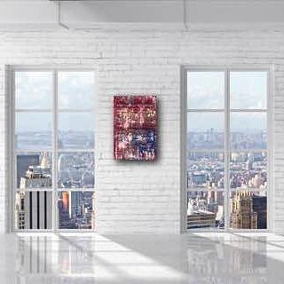 "Artist: Erika Rachel Size: 24"" x 36"" Acrylic paint on canvas For pricing inquiries lynn@Hutchinsamc.com  #art #artistoftheday #luxerydesign #luxuryrealestate #lawyerlife #lawyer #art4sale #artcollector #miamiart #artgalleries @erikarachelart #interiordesigner #miamiluxury #miamiluxuryrealestate"