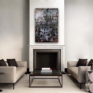 """Artist: Erika Rachel Size: 32"""" x 47"""" Acrylic and Latex paint on canvas 15% off ALL Erika Rachel ART until August 9th with code HUTCH15 go to EricaRachel.com to redeem offer.  #art #artistoftheday #luxerydesign #luxuryrealestate #lawyerlife #lawyer #art4sale #artcollector #miamiart #lawyerlife #artgalleries @erikarachelart #artcollector #interiordesign #interiordesigny"""